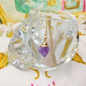 Jewelry - Faux Amethyst Crystal Necklace
